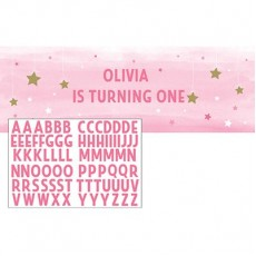 Girl One Little Star Personalise It Banner