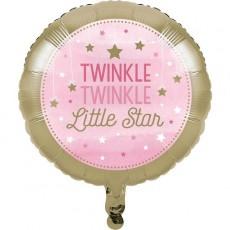 Girl One Little Star Twinkle Twinkle Little Star Foil Balloon 45cm