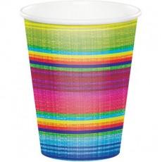Mexican Fiesta Serape Paper Cups 266ml Pack of 8