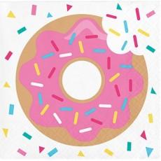 Donut Time Beverage Napkins Pack of 16