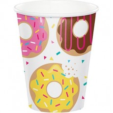 Donut Time Paper Cups 266ml Pack of 8