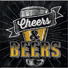 Happy Birthday Cheers & Beers Beverage Napkins Pack of 16