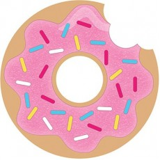 Donut Time Postcard Invitations 11cm Pack of 8