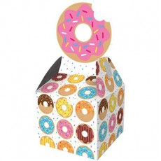 Donut Time Treat Favour Boxes 23cm x 9cm Pack of 8