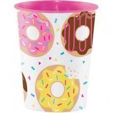 Donut Time Keepsake Souvenir Favour Plastic Cup 473ml