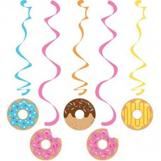 Donut Time Dizzy Dangler Swirls Hanging Decorations Pack of 5