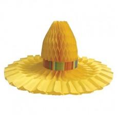 Caliente Serape Fiesta Sombrero Honeycomb Centrepiece