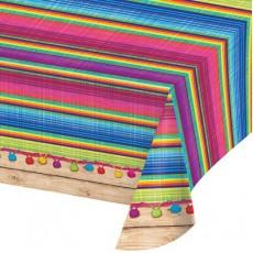 Mexican Fiesta Serape Plastic Table Cover