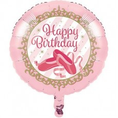 Twinkle Toes Ballet Slippers Foil Balloon