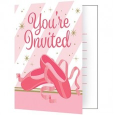Twinkle Toes Party Supplies - Invitations Foldover