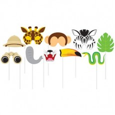 Misc Occasion Jungle Photo Booth Assorted Photo Props 25cm Pack of 10