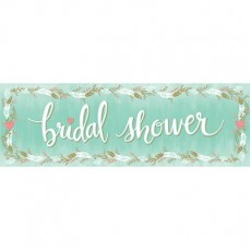 Bridal Shower Mint Green Giant Banner