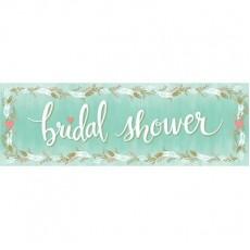 Mint Green Bridal Shower Giant Banner 51cm x 152cm