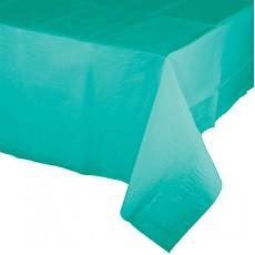 Teal Lagoon Green Tissue & Plastic Back Table Cover 137cm x 274cm