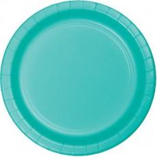 Green Teal Lagoon Paper Banquet Plates