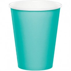 Green Teal Lagoon Hot & Cold Paper Cups