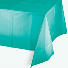 Green Teal Lagoon  Plastic Table Cover