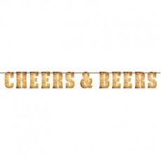 Happy Birthday Cheers & Beers Banner 15cm x 2m