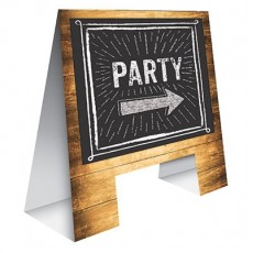 Chalkboard Timber Look  Easel Misc Decoration