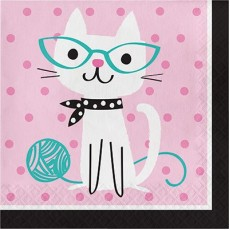 Purrfect Party Supplies - Lunch Napkins