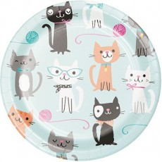Purrfect Paper Lunch Plates