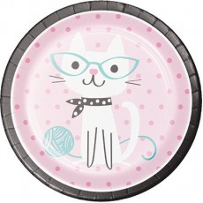 Purrfect Paper Dinner Plates