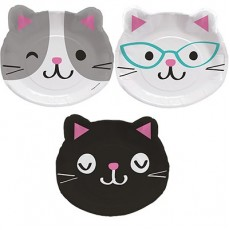 Purrfect Shaped Paper Dinner Plates