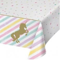 Unicorn Sparkle Party Supplies - Plastic Table Cover