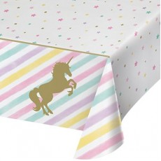 Unicorn Sparkle Plastic Table Cover