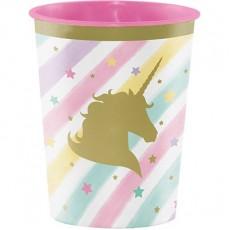Unicorn Sparkle Party Supplies - Plastic Cup Souvenir Cup