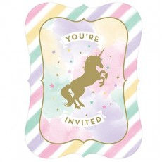 Unicorn Sparkle Postcard Invitations