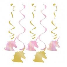 Unicorn Sparkle Party Decorations - Hanging Decorations Dizzy Danglers