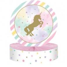 Unicorn Sparkle Party Decorations - Centrepiece Honeycomb