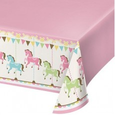 Carousel Plastic Table Cover