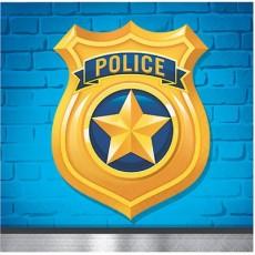Police Beverage Napkins