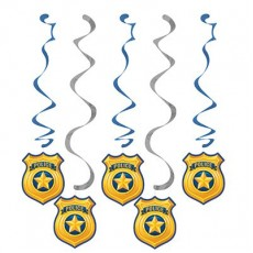 Police Dizzy Danglers Hanging Decorations