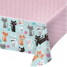 Purrfect Party Supplies - Plastic Table Cover