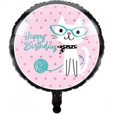 Purrfect Cat Foil Balloon
