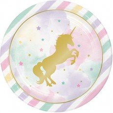 Unicorn Sparkle Party Supplies - Dinner Plates