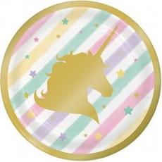 Unicorn Sparkle Party Supplies - Lunch Plates