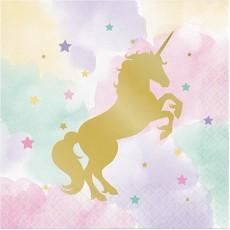 Unicorn Sparkle Party Supplies - Lunch Napkins
