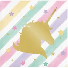 Unicorn Sparkle Party Supplies - Beverage Napkins