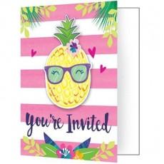 Pineapple N Friends Invitations Pack of 8