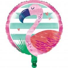 Round Pineapple N Friends Flamingo Foil Balloon 45cm