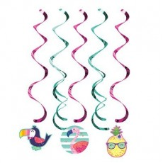 Pineapple N Friends Dizzy Danglers Hanging Decorations Pack of 5
