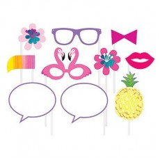 Pineapple N Friends Photo Booth Photo Props Pack of 10