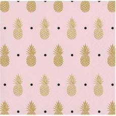 Bridal Shower Pineapple Wedding Beverage Napkins 25cm x 25cm Pack of 16