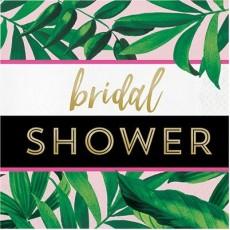 Bridal Shower Pineapple Wedding Script Lunch Napkins