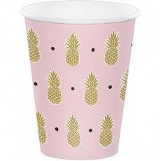Bridal Shower Pineapple Wedding Paper Cups 266ml Pack of 8