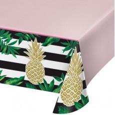Bridal Shower Pineapple Wedding Plastic Table Cover 137cm x 259cm